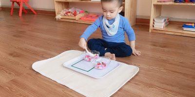 Đến Happy kids plus các con được làm quen với Montessori