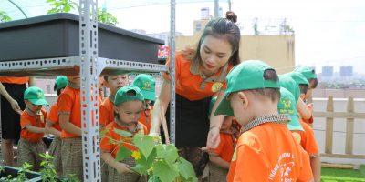 Hoạt động trải nghiệm không gian xanh tại cơ sở Happy Kids Plus 2